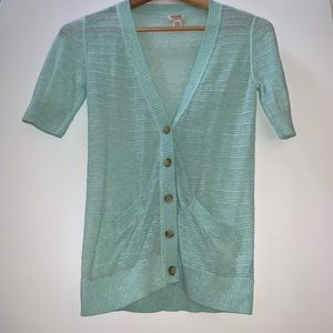 NWOT Mint color Mossimo cardigan layering sweater